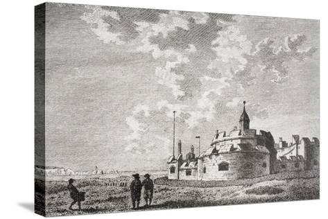 Hurst Castle--Stretched Canvas Print