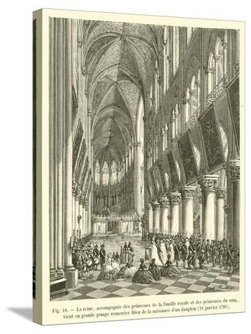 La Reine--Stretched Canvas Print