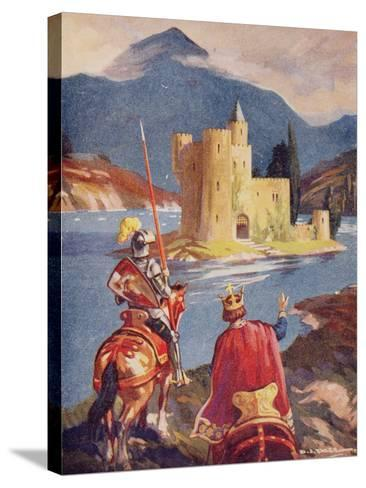 Tristram and King Arthur--Stretched Canvas Print