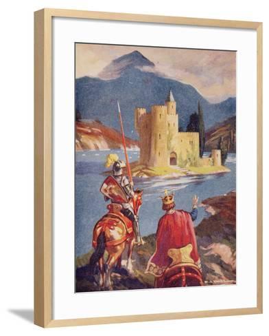 Tristram and King Arthur--Framed Art Print