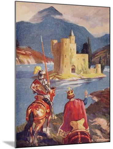 Tristram and King Arthur--Mounted Giclee Print