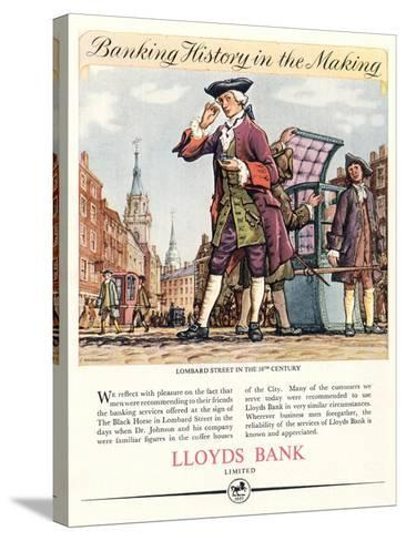 Advert for Lloyds Bank--Stretched Canvas Print