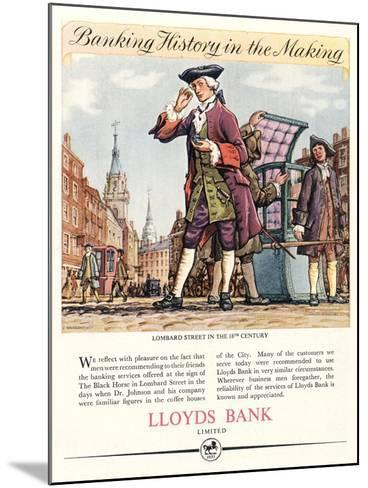 Advert for Lloyds Bank--Mounted Giclee Print