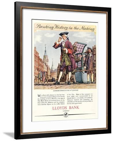 Advert for Lloyds Bank--Framed Art Print