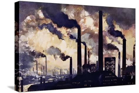 Modern Industrialism--Stretched Canvas Print