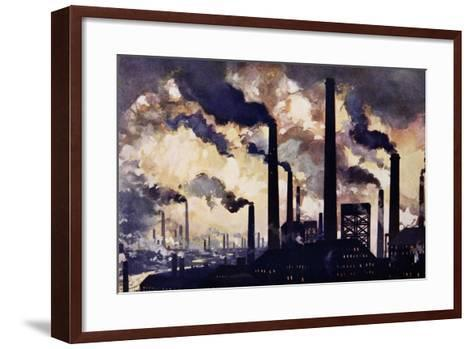 Modern Industrialism--Framed Art Print