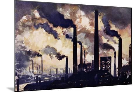 Modern Industrialism--Mounted Giclee Print