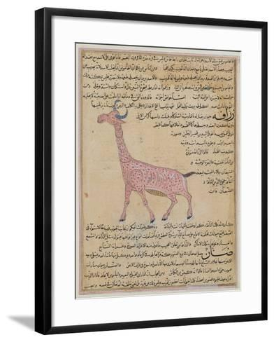 Ms E-7 Fol.180 a Giraffe--Framed Art Print