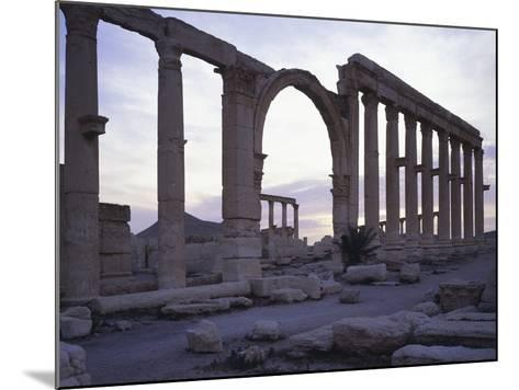 Syria, Palmyra, Great Colonnaded Street in Front of Intersection of Tetrapylon--Mounted Photographic Print