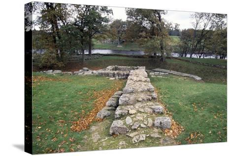 Ruins of the Second Bridge of Chesters, Chesters Roman Fort, Hadrian's Wall--Stretched Canvas Print