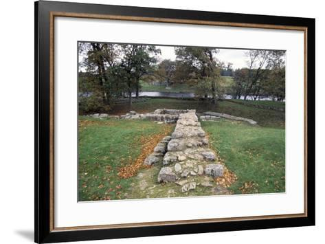 Ruins of the Second Bridge of Chesters, Chesters Roman Fort, Hadrian's Wall--Framed Art Print