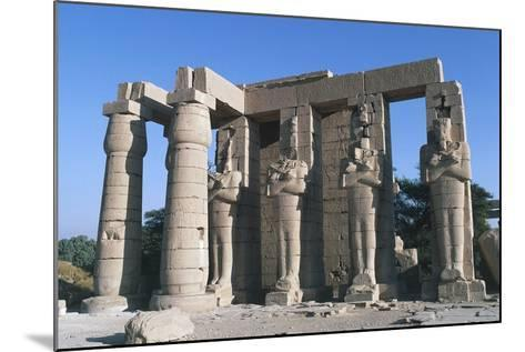 The Second Pylon of Ramesseum, Mortuary Temple of Rameses II, Luxor, Thebes--Mounted Photographic Print