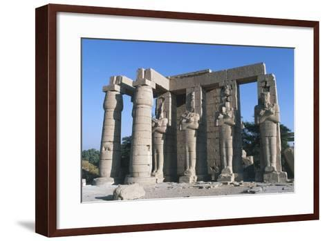 The Second Pylon of Ramesseum, Mortuary Temple of Rameses II, Luxor, Thebes--Framed Art Print