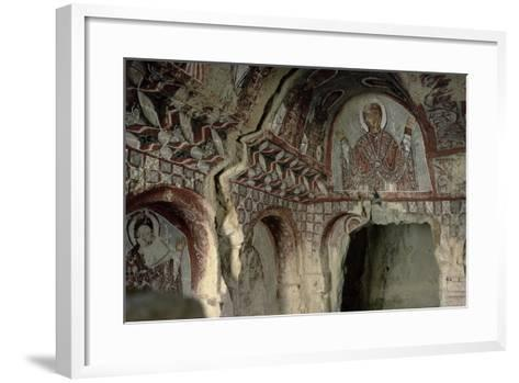 The Virgin Mary, Emperor and Empress Paintings, Byzantine, Probably C.10th Century--Framed Art Print