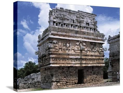 Mexico, Yucatan State, Chichen Itza, Maya-Toltec Archaeological Site, Complex of Las Monjas--Stretched Canvas Print