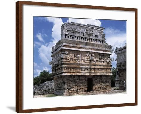 Mexico, Yucatan State, Chichen Itza, Maya-Toltec Archaeological Site, Complex of Las Monjas--Framed Art Print
