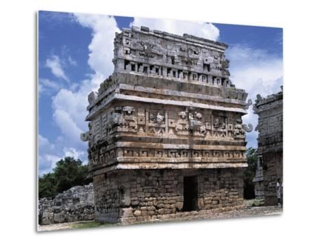 Mexico, Yucatan State, Chichen Itza, Maya-Toltec Archaeological Site, Complex of Las Monjas--Metal Print