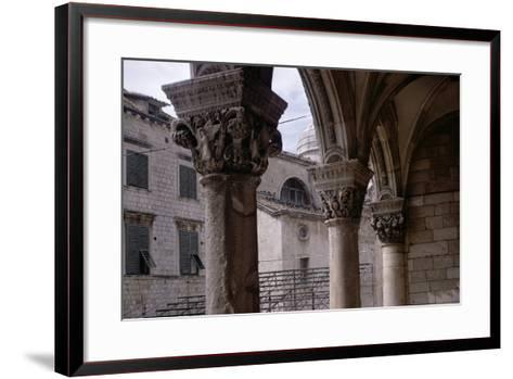 Renaissance Capitals in the Portico Built by Florentine Architect Salvi Di Michiele in 1468--Framed Art Print
