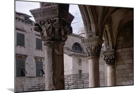Renaissance Capitals in the Portico Built by Florentine Architect Salvi Di Michiele in 1468--Mounted Photographic Print