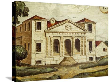 Villa Pisani-Bonetti Painting before Construction of Wall Along River, Villa Pisani-Bonetti--Stretched Canvas Print