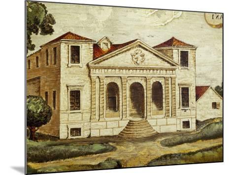 Villa Pisani-Bonetti Painting before Construction of Wall Along River, Villa Pisani-Bonetti--Mounted Photographic Print
