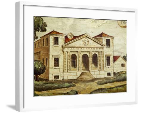 Villa Pisani-Bonetti Painting before Construction of Wall Along River, Villa Pisani-Bonetti--Framed Art Print