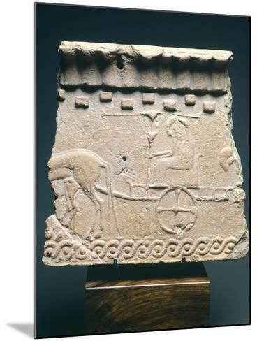 Fictile Tablet Depicting Pair of Princes in Chariot Procession, from the Murlo Residence in Siena--Mounted Photographic Print