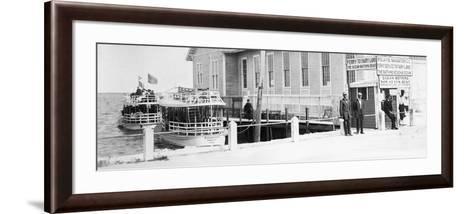 The Biscayne Navigation Company''S Tour Boats Docked at the Foot of Flagler Street, C.1901--Framed Art Print
