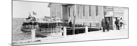 The Biscayne Navigation Company''S Tour Boats Docked at the Foot of Flagler Street, C.1901--Mounted Photographic Print