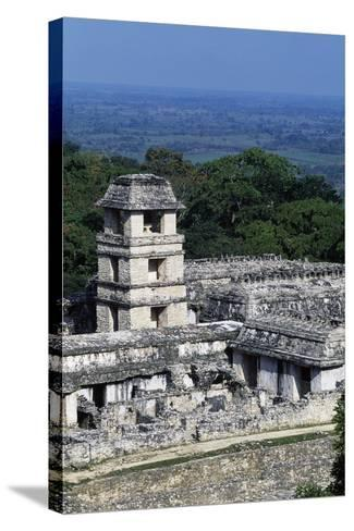 Palace Observation Tower in the Palace Complex, Archaeological Site of Palenque--Stretched Canvas Print