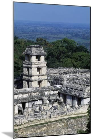 Palace Observation Tower in the Palace Complex, Archaeological Site of Palenque--Mounted Photographic Print