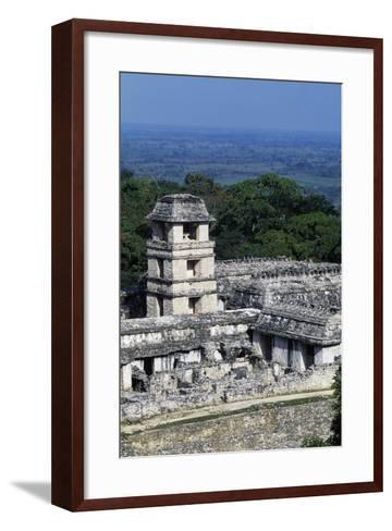 Palace Observation Tower in the Palace Complex, Archaeological Site of Palenque--Framed Art Print