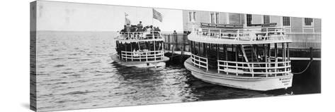This Lusitania and Mauritania Ferried Sightseers across Biscayne Bay to Miami Beach, C.1910--Stretched Canvas Print