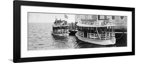 This Lusitania and Mauritania Ferried Sightseers across Biscayne Bay to Miami Beach, C.1910--Framed Art Print