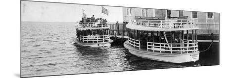 This Lusitania and Mauritania Ferried Sightseers across Biscayne Bay to Miami Beach, C.1910--Mounted Photographic Print