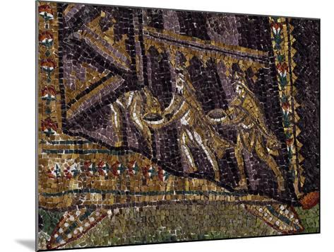Theodora with Her Entourage, Mosaic, South Wall of Apse, Basilica of San Vitale--Mounted Photographic Print