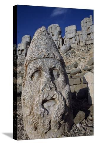 Colossal Head, Tomb of King Antioch I of Commagene, East Terrace, Nemrut Dagi--Stretched Canvas Print