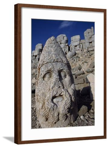 Colossal Head, Tomb of King Antioch I of Commagene, East Terrace, Nemrut Dagi--Framed Art Print