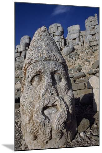 Colossal Head, Tomb of King Antioch I of Commagene, East Terrace, Nemrut Dagi--Mounted Photographic Print