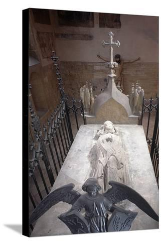 Tomb of St. Ludmila of Bohemia in St. George's Basilica at Prague Castle, Prague, Czech Republic--Stretched Canvas Print
