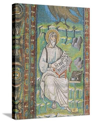 Saint John Evangelist, Mosaic, Left of Trifora, Northern Wall of Presbytery, Basilica of San Vitale--Stretched Canvas Print