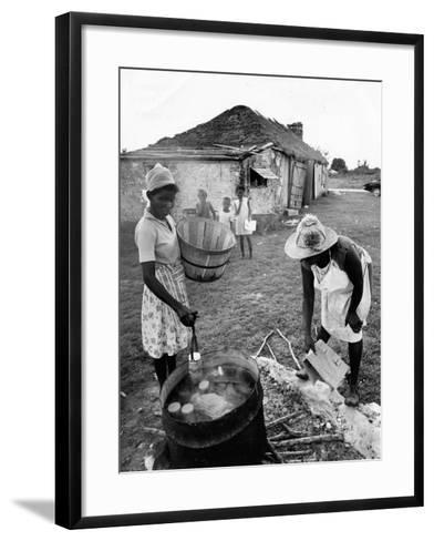 Making Guava Jelly, a Staple of Diet on Great Exuma Island, Bahamas, C.1978--Framed Art Print