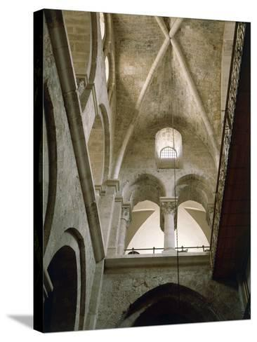 Arches of Virgin in Basilica of Holy Sepulchre or Church of Resurrection, Old City of Jerusalem--Stretched Canvas Print
