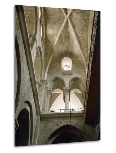 Arches of Virgin in Basilica of Holy Sepulchre or Church of Resurrection, Old City of Jerusalem--Metal Print