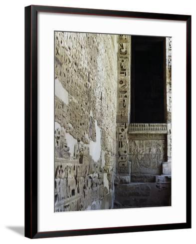 Painted Reliefs, 2nd Courtyard, Mortuary Temple of Ramesses Iii, Medinet Habu, Thebes--Framed Art Print