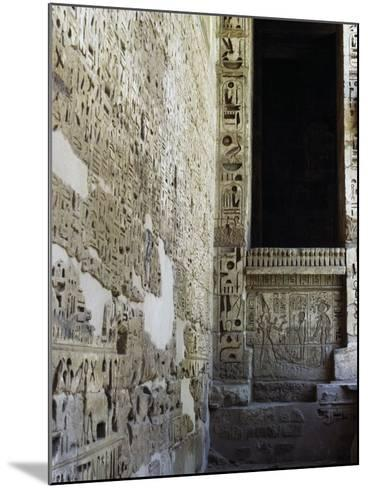Painted Reliefs, 2nd Courtyard, Mortuary Temple of Ramesses Iii, Medinet Habu, Thebes--Mounted Photographic Print