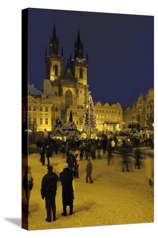 Old Town Square and the Church of Our Lady before Týn, Prague, Czech Republic--Stretched Canvas Print