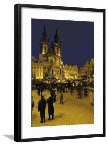 Old Town Square and the Church of Our Lady before Týn, Prague, Czech Republic--Framed Art Print