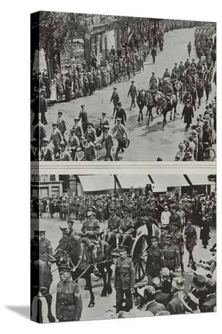 Funeral of Colonel Fitzgerald, Secretary to Lord Kitchener, Eastbourne, 1916--Stretched Canvas Print