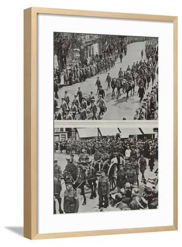 Funeral of Colonel Fitzgerald, Secretary to Lord Kitchener, Eastbourne, 1916--Framed Art Print